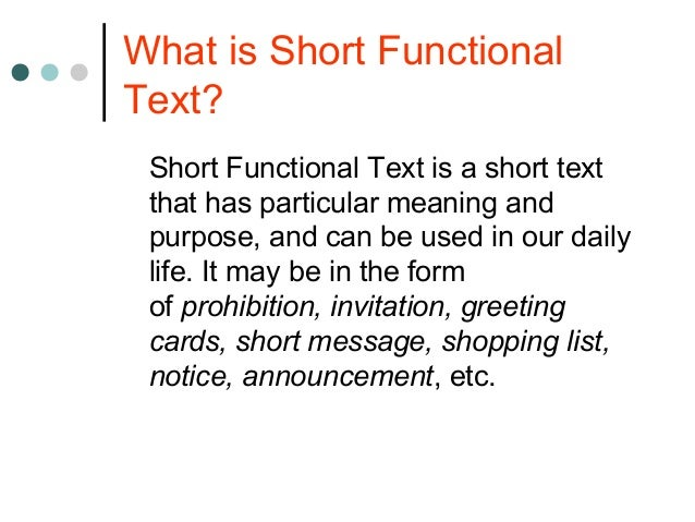 Short Functional Text 2