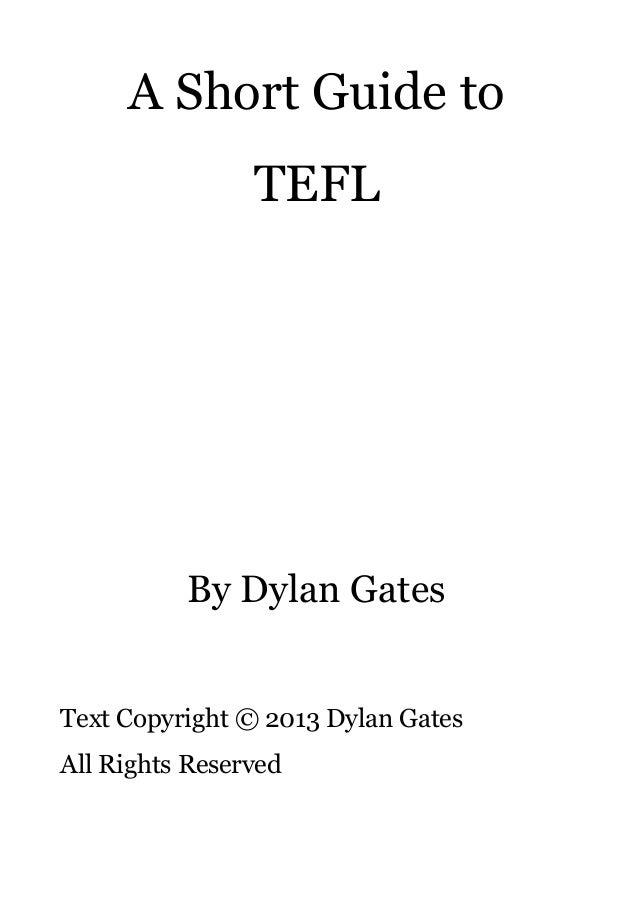 A Short Guide to TEFL Slide 2