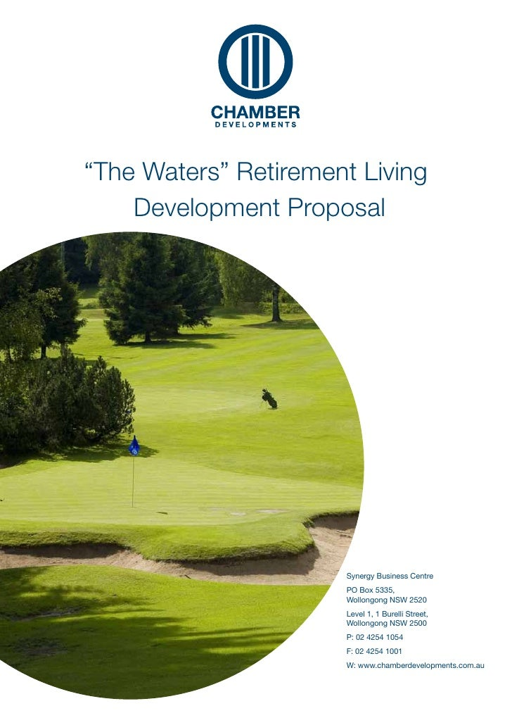 """""""The Waters"""" Retirement Living    Development Proposal                      Synergy Business Centre                      P..."""