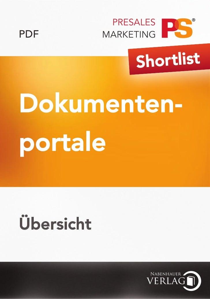 PDF            Shor tlistDokumenten-portaleÜbersicht