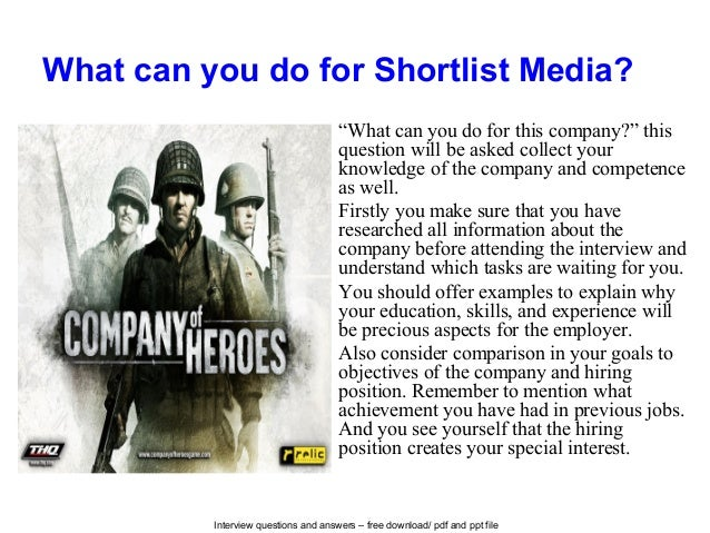 Shortlist media interview questions and answers