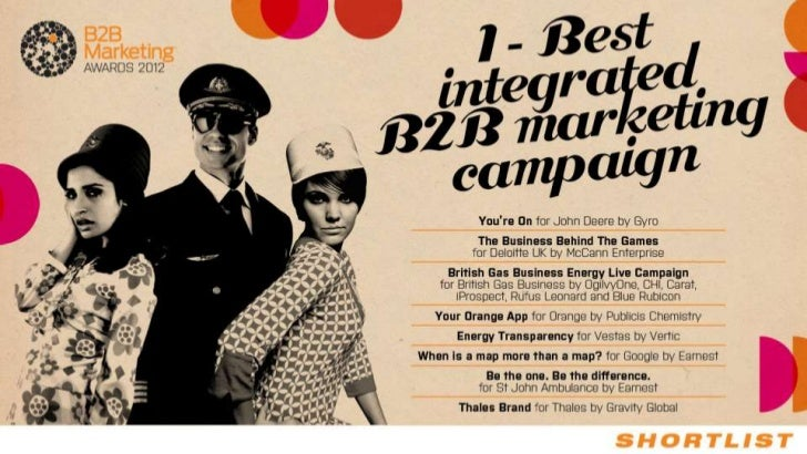 B2B Marketing Awards 2012 – Shortlist creative work