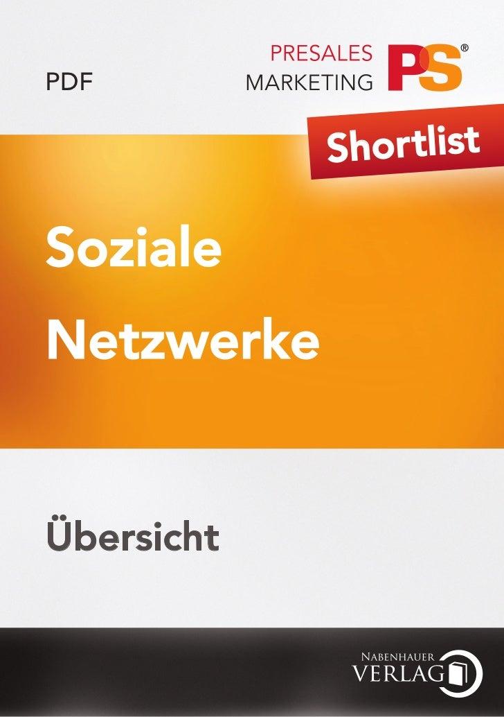 PDF            Shor tlistSozialeNetzwerkeÜbersicht