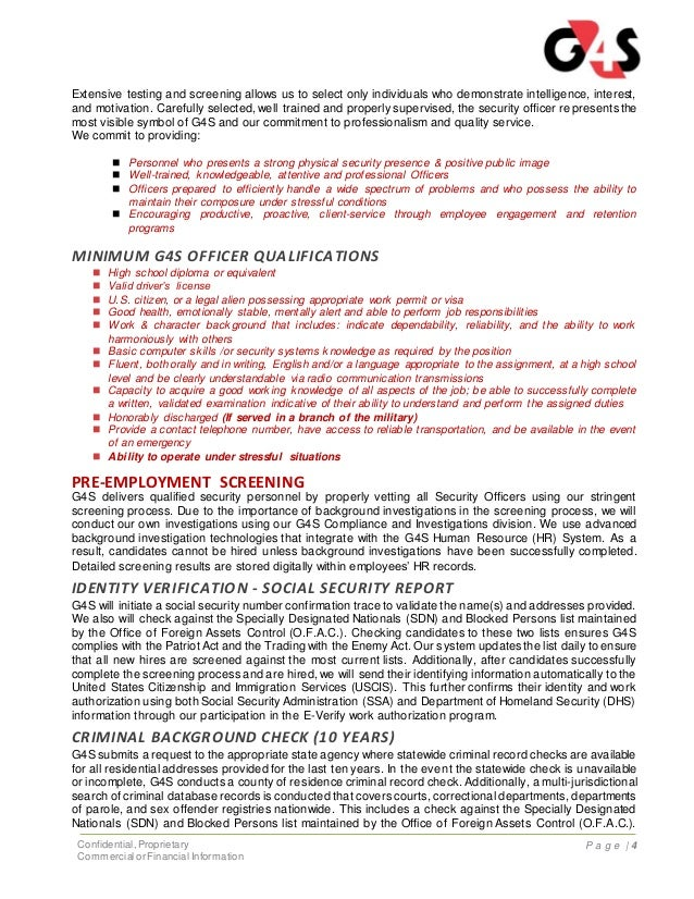 g4s-security-officer-training-and-benefits-proposal-4-638 Safety Commitment Letter Template on for customer regarding, process examples, help writing,