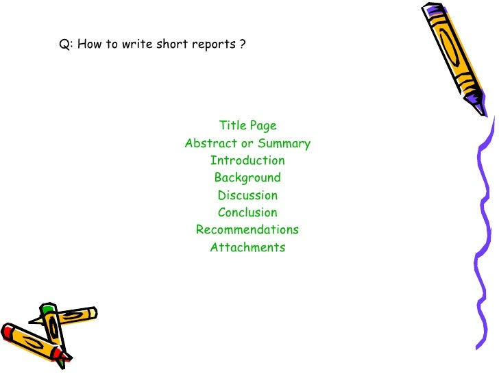 How to Write a Short Report to the General Manager