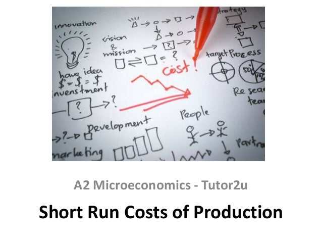 A2 Microeconomics - Tutor2u  Short Run Costs of Production