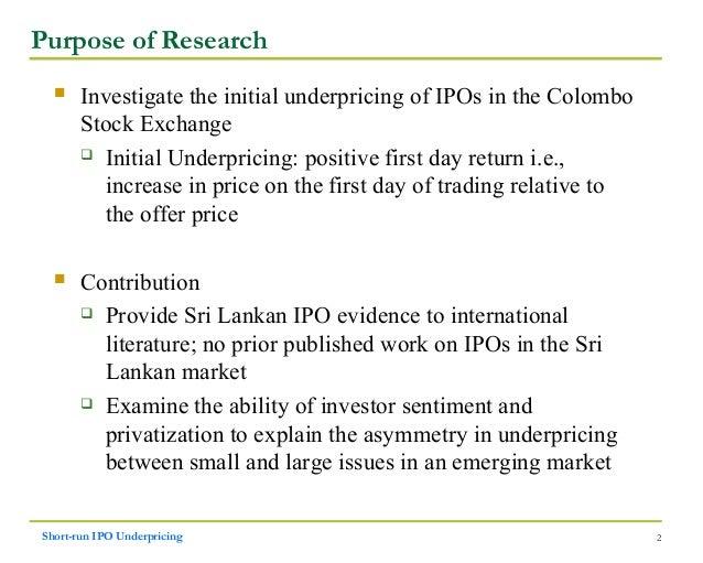 Main purpose of ipo