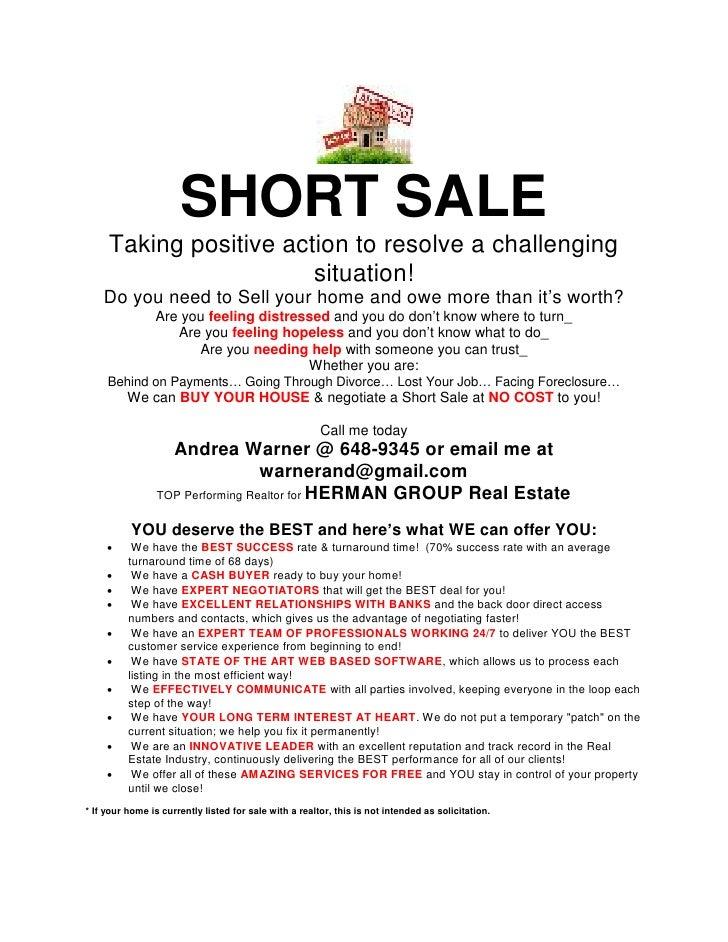 Short sale flyer pdf 2 for Short sale websites for realtors