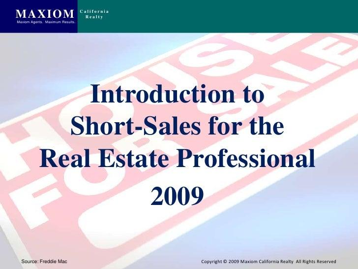Short Sales For Real Estate Professionals Slide 2