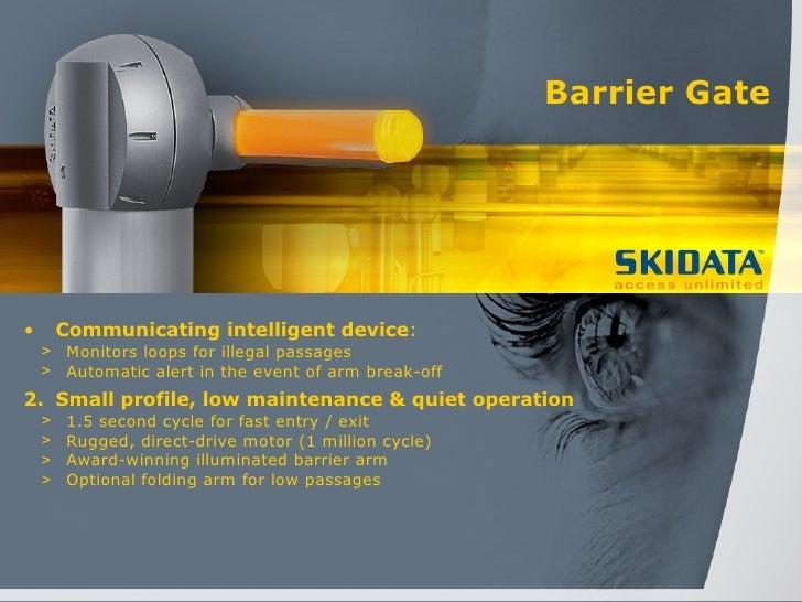 Skidata barrier gate manual.
