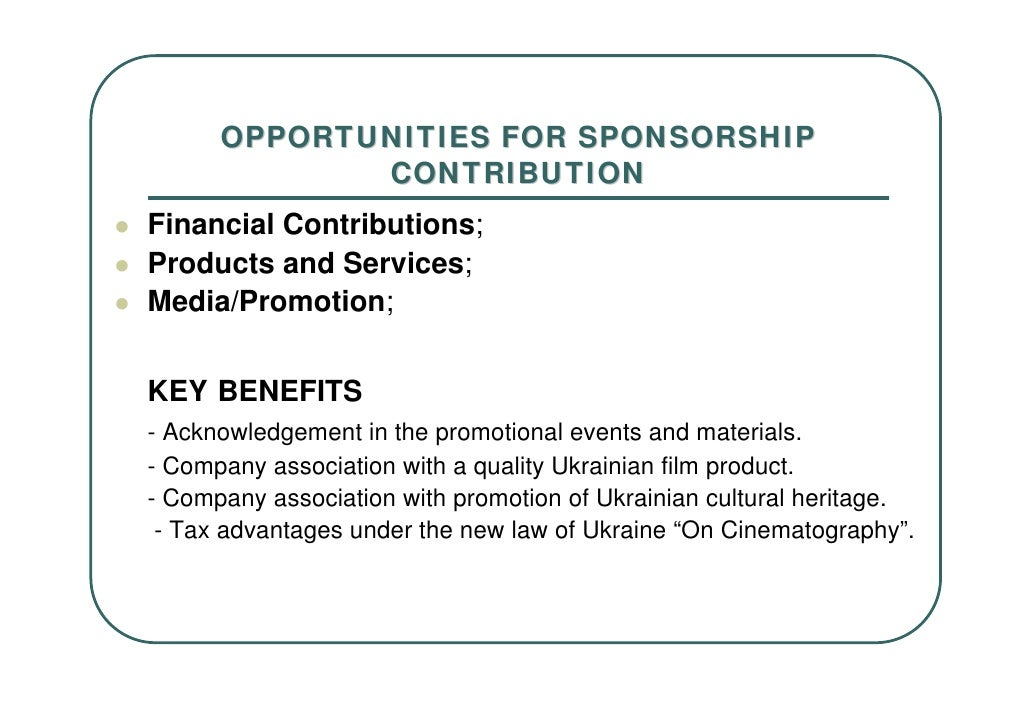 5. OPPORTUNITIES FOR SPONSORSHIP CONTRIBUTION ...  How To Write A Sponsor Proposal