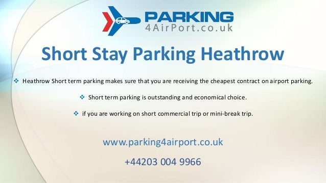 Heathrow Short Stay >> Short Stay Parking Service At Heathrow Airport London Cheap Online P