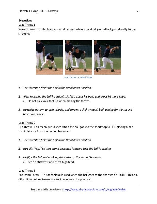 Shortstop fielding