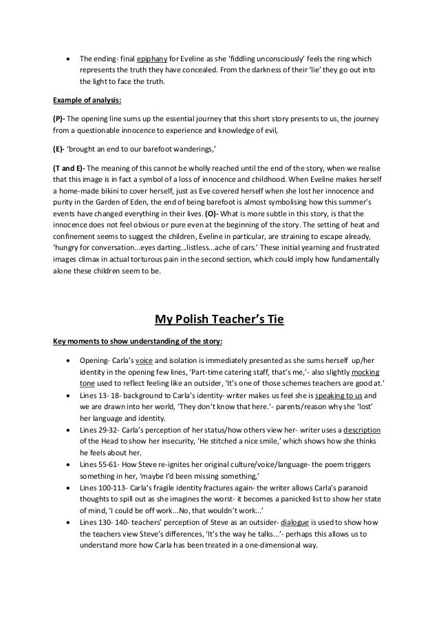 eveline short story analysis