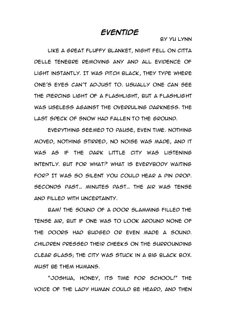 creative writing short story essay This is a short story i wrote for a creative writing competition, it won an award and i thought i would share it it's a mystery-scary-fiction and i really enjoyed writing it.