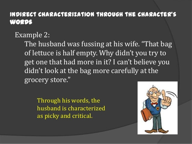 what is the characterization in a story