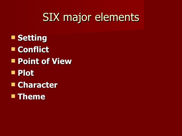 elements of a good short story
