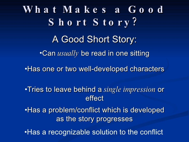 how to write good shrt fiction