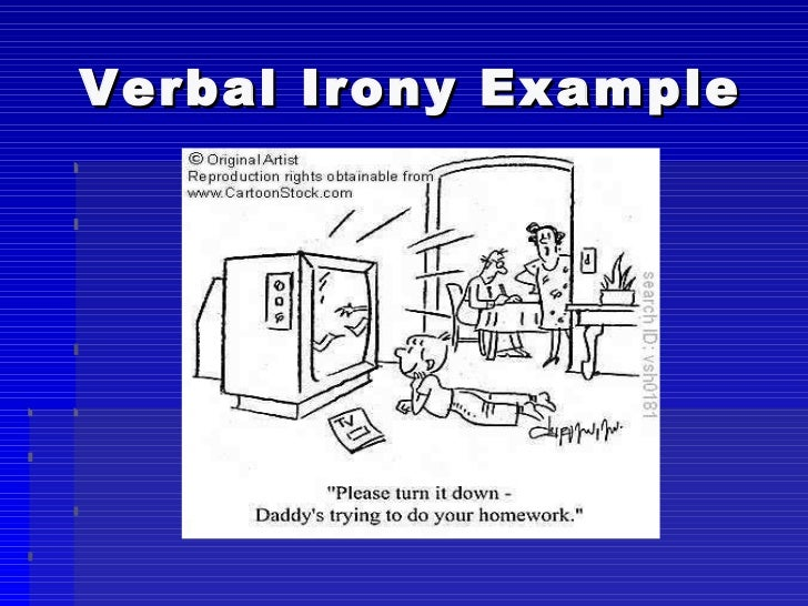 define verbal irony in literature