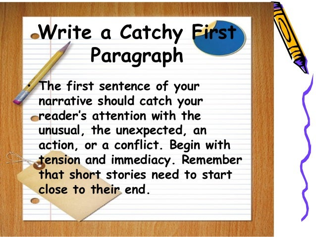 how to write a narrative story When you write a narrative essay, you are telling a story narrative essays are told from a defined point of view, often the author's.