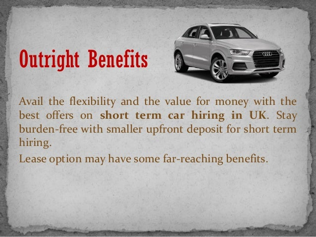 Short Term Car Lease >> Short Term Car Lease In Uk Enjoy The Benefits