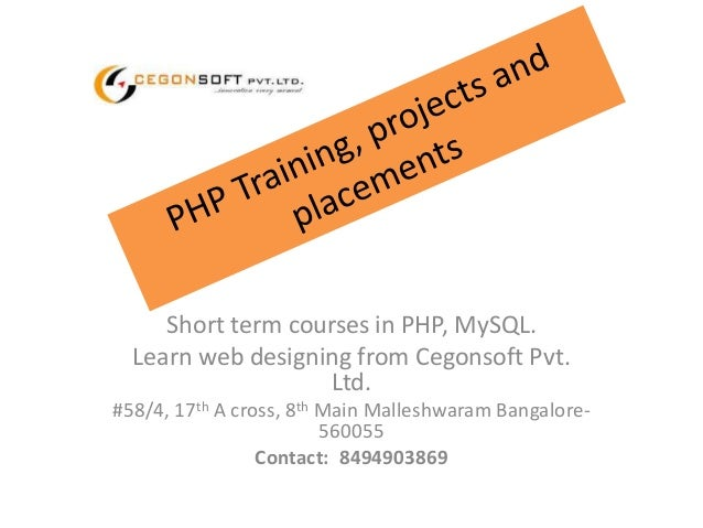 short term PHP courses in bangalore || job oriented PHP ...