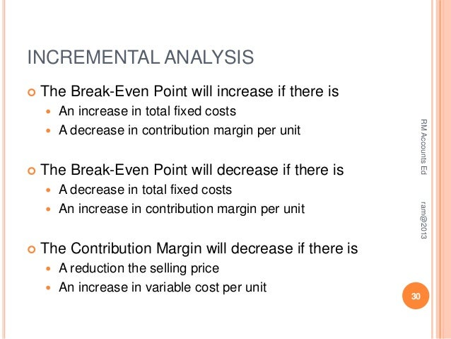 cmpare and contrast marginal analysis and breakeven analysis Let us calculate and compare breakeven point with the margin of safety   advantages and use of breakeven point analysis and margin of.