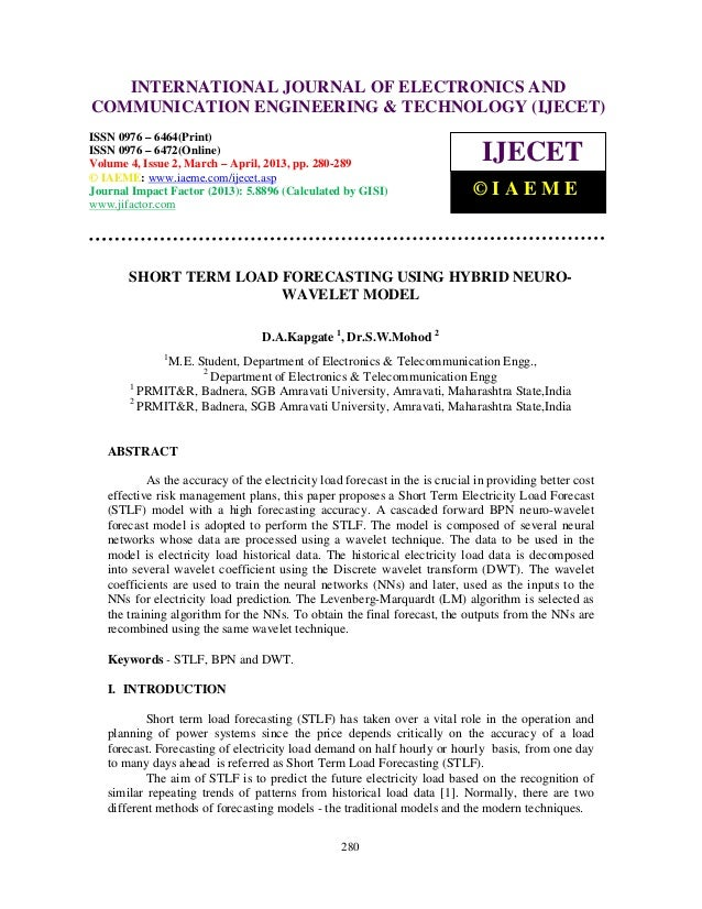International Journal of Electronics and Communication Engineering & Technology (IJECET), ISSN0976 – 6464(Print), ISSN 097...