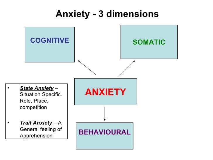 relationship between trait and state anxiety theory