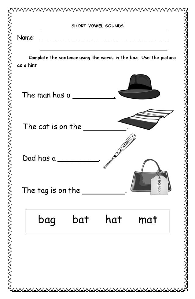 Short vowel sounds worksheets – Vowel Sound Worksheets