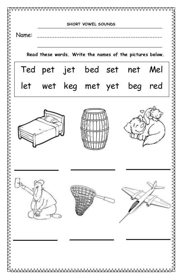 Short vowel sounds worksheets – Short a Words Worksheets