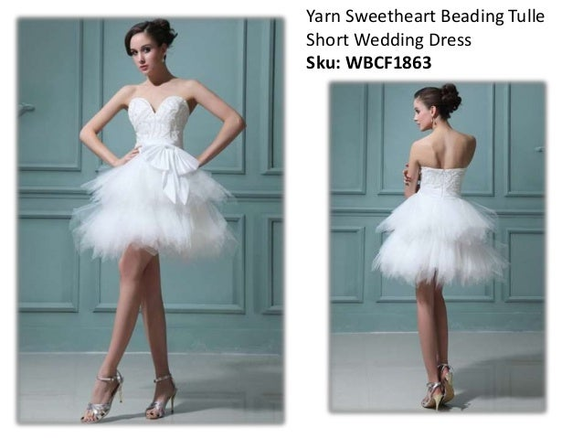 Short wedding dresses online 2015