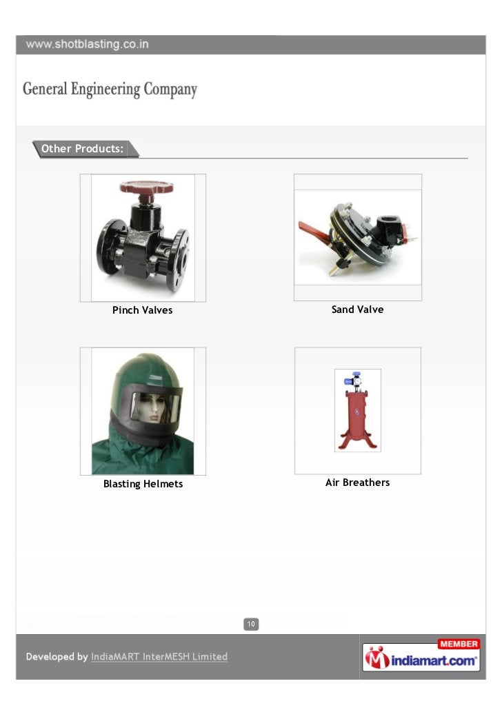 Other Products:            Pinch Valves       Sand Valve           Blasting Helmets   Air Breathers