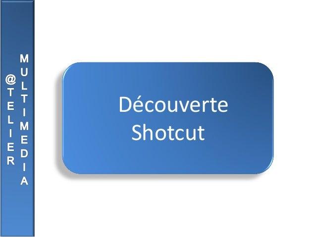 Découverte Shotcut