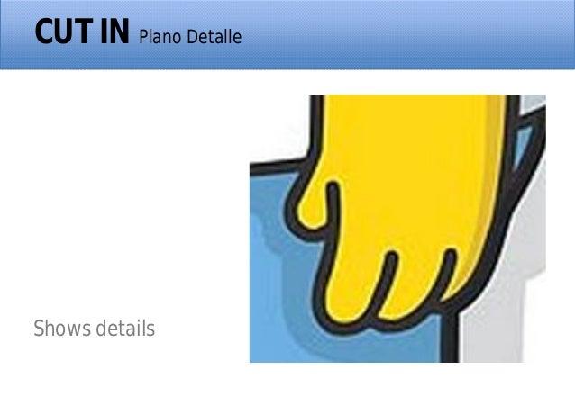 CUT IN Plano Detalle Shows details