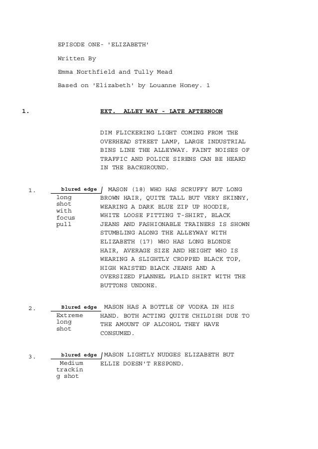 shots in screenplay