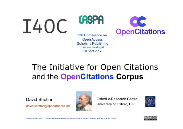 Oxford e-Research Centre University of Oxford, UK 9th Conference on Open Access Scholarly Publishing Lisbon, Portugal 20 S...