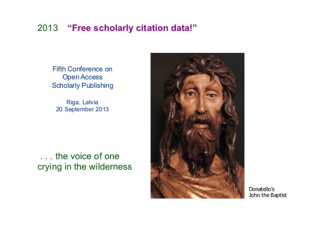 The Initiative for Open Citations and the OpenCitations Corpus Slide 2