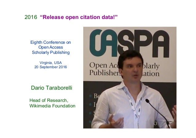 The Initiative for Open Citations and the OpenCitations Corpus Slide 3