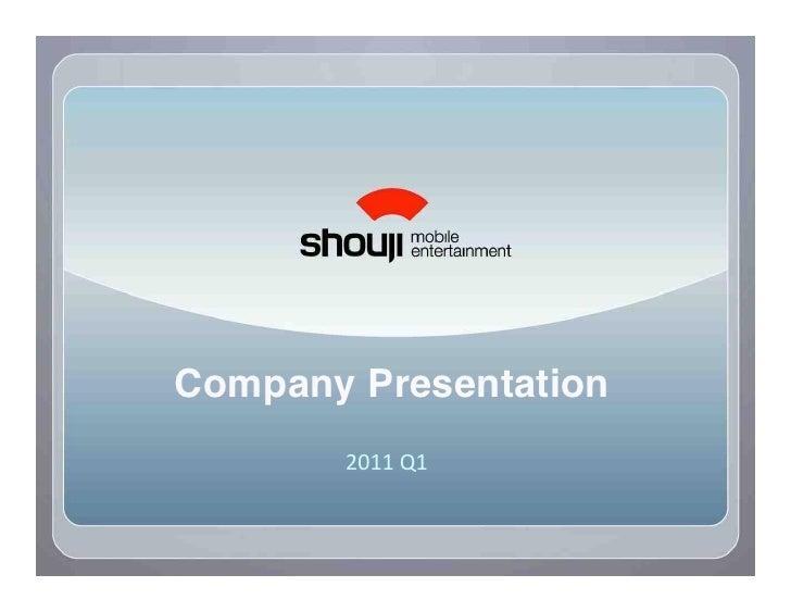 "Company Presentation!        !""##$%#$"