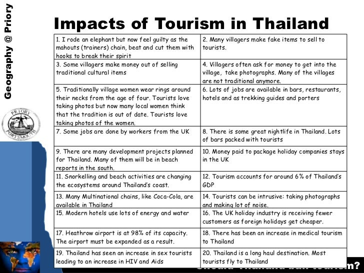 an analysis of sex tourism in thailand The travel and tourism industry plays an important role in stopping child sex tourism, through awareness, education and reporting one of the biggest challenges however is fear from some travel and tourism businesses that tourists will be deterred or offended by the industry profiling the issue of child sex tourism within their services.