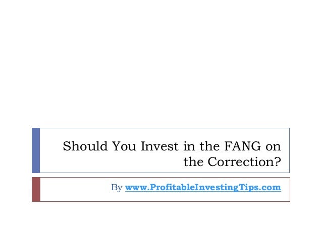 Should You Invest in the FANG on the Correction? By www.ProfitableInvestingTips.com