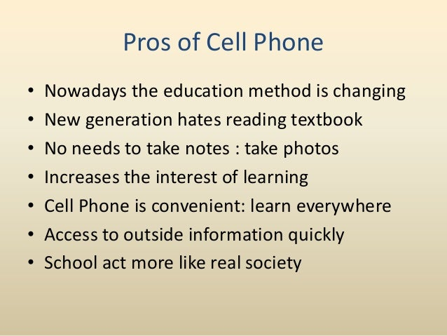 Persuasive essay about cell phones should be allowed in school