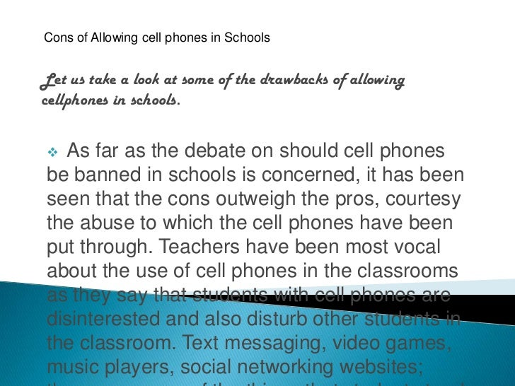 that mobile phones should not be banned in schools debate mission