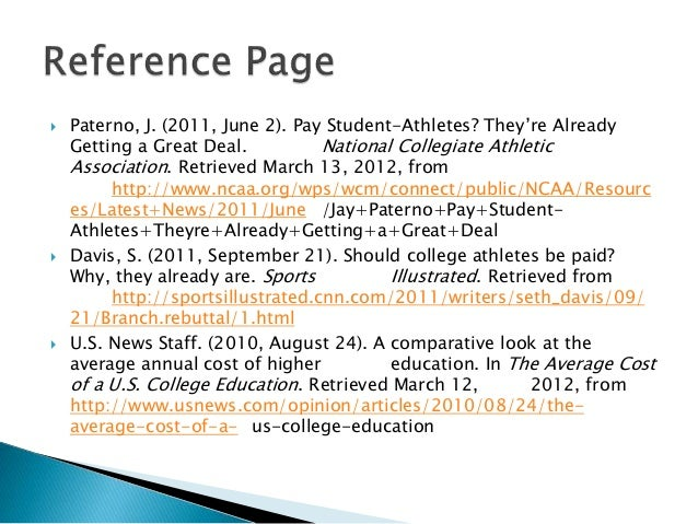 Paying college athletes research paper