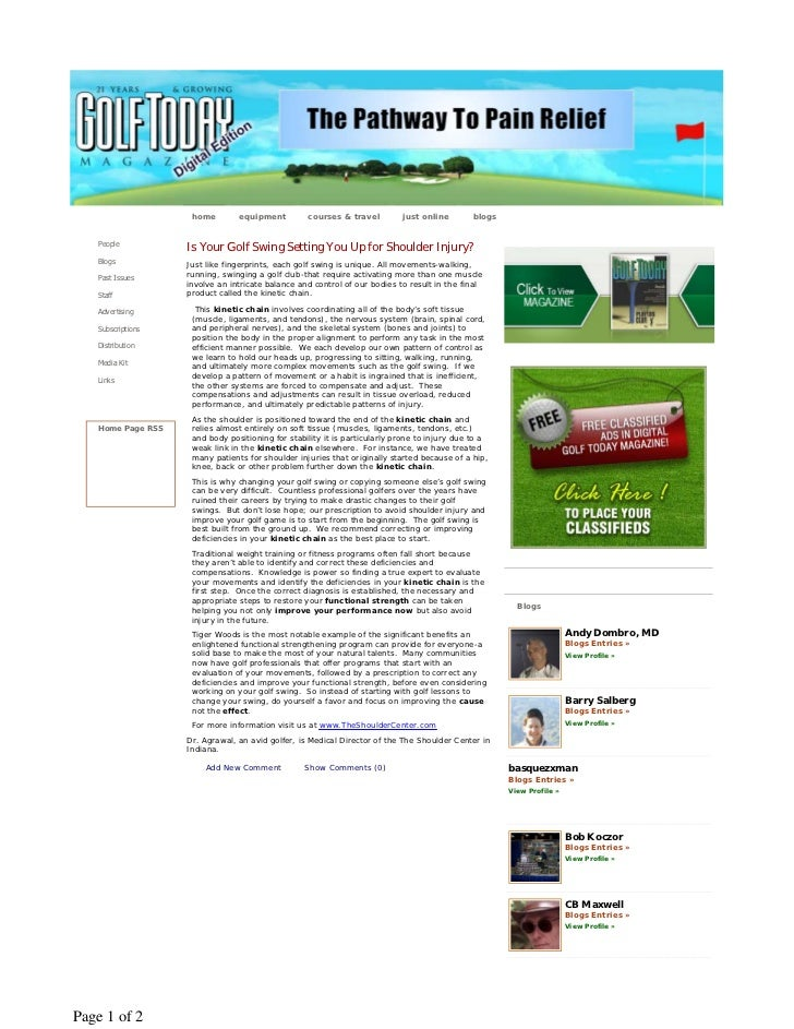 home        equipment         courses & travel         just online        blogs   People                   Is Your Golf Sw...