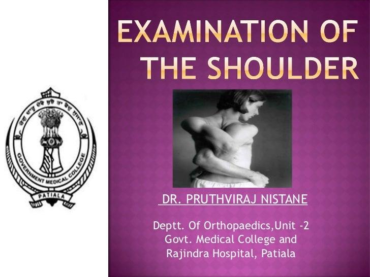 DR. PRUTHVIRAJ NISTANEDeptt. Of Orthopaedics,Unit -2  Govt. Medical College and  Rajindra Hospital, Patiala