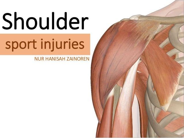 Shoulder sport injuries NUR HANISAH ZAINOREN