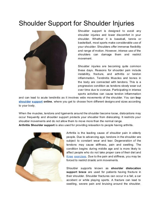 Shoulder Support For Shoulder Injuries