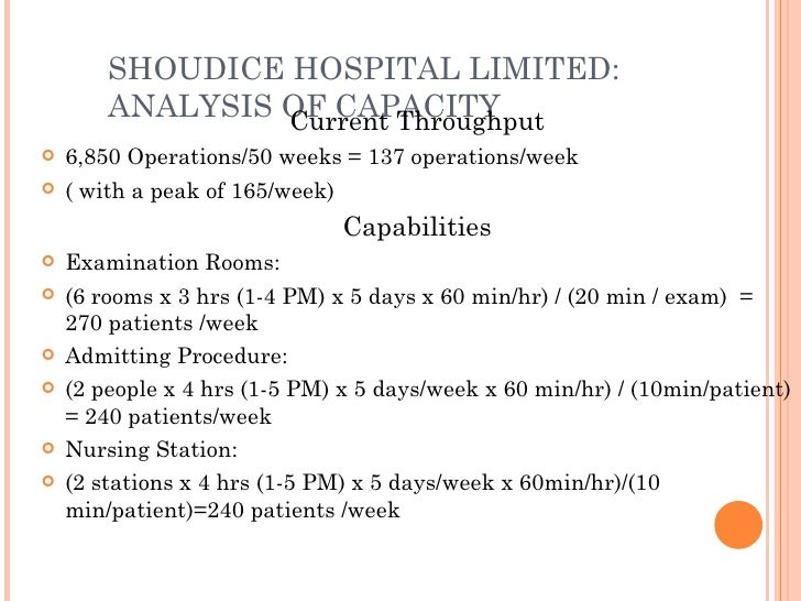 shouldice hospital case study analysis Shouldice hospital – case analysis background dr shouldice established a speciality hospital in 1945 near downtown toronto, ontario, for the treatment of hernia.